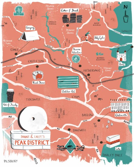 Peak District Illustrated Map